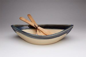 Maxwell-Pottery-GRANITE-DORY-BOWL-WITH-PADDLE-SALAD-SERVERS